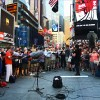 Philip Glass 'Flash Choir' in Times Square