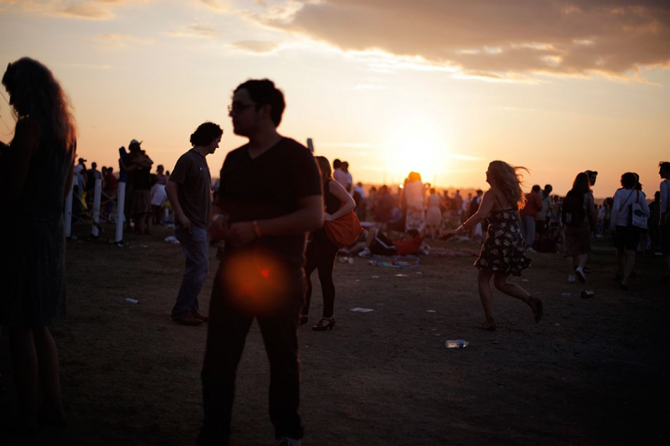 Sunset over the Newport Folk Festival.